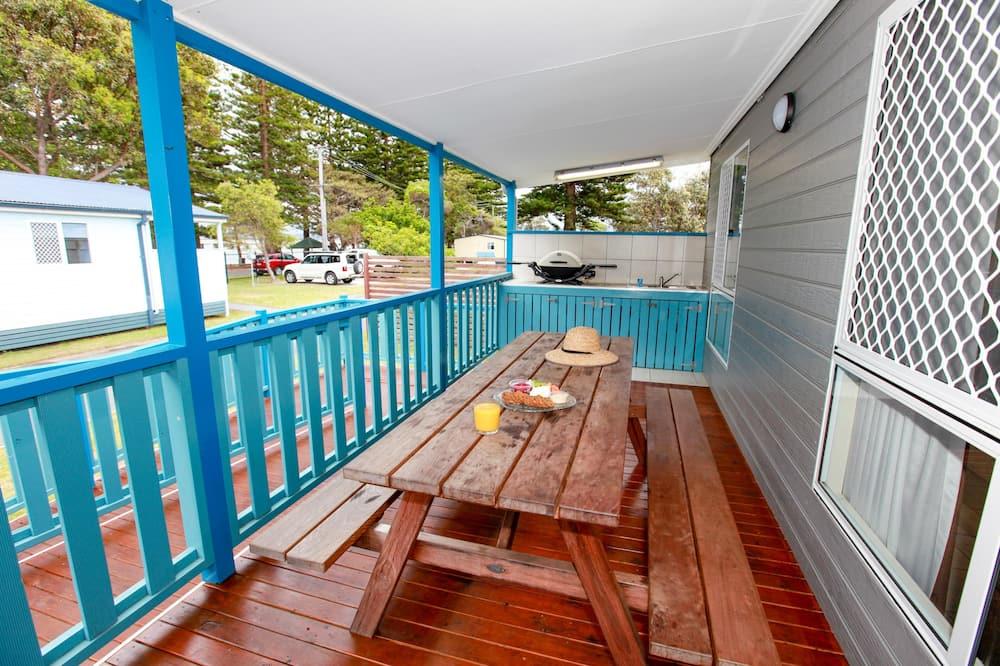 Deluxe-Ferienhütte, 2Schlafzimmer - Balkon