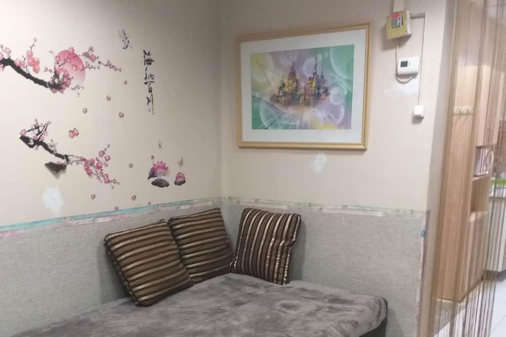 Ģimenes dzīvokļnumurs, viena guļamistaba - Dzīvojamā zona