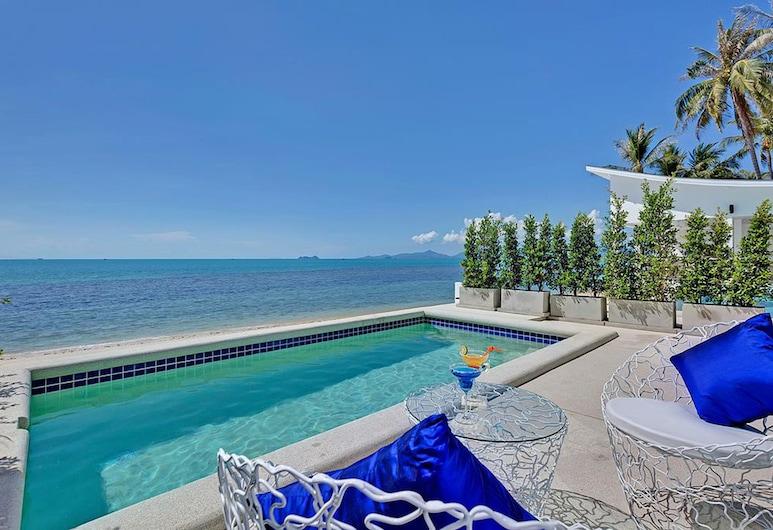 La Perle Luxury Boutique Hotel, Koh Samui, Beachfront Bungalow with Private Pool, Αίθριο/βεράντα