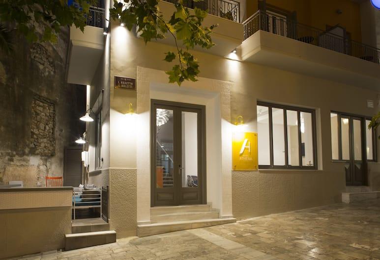 Athena Hotel, Nafplio, Hotel Front – Evening/Night