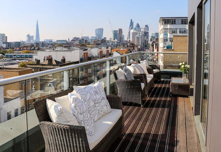 City Courtyard Apartments & Penthouse, London, Luxury-Penthouse, 2Schlafzimmer, Terrasse, Stadtblick, Balkon