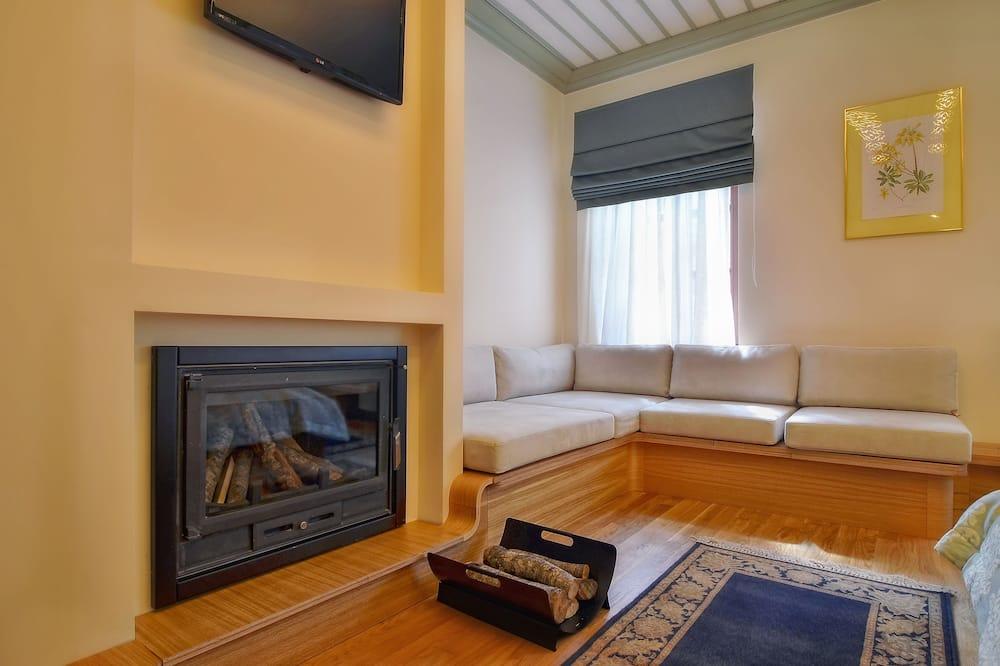 Superior-Suite, Kamin - Wohnbereich