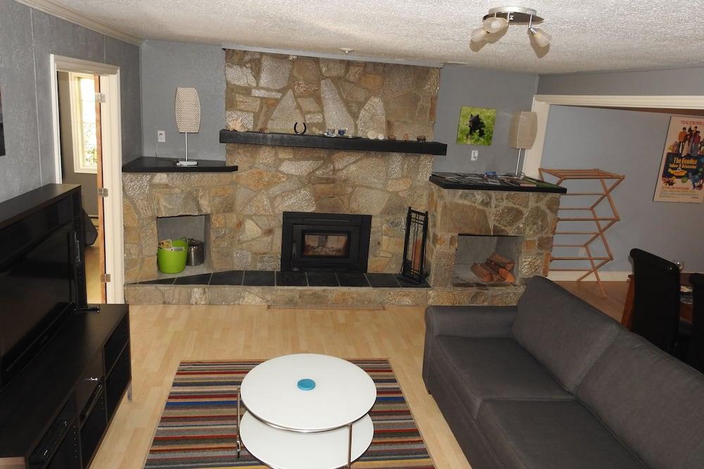 apartman, 2 hálószobával, pezsgőfürdő, kilátással a hegyre - Nappali