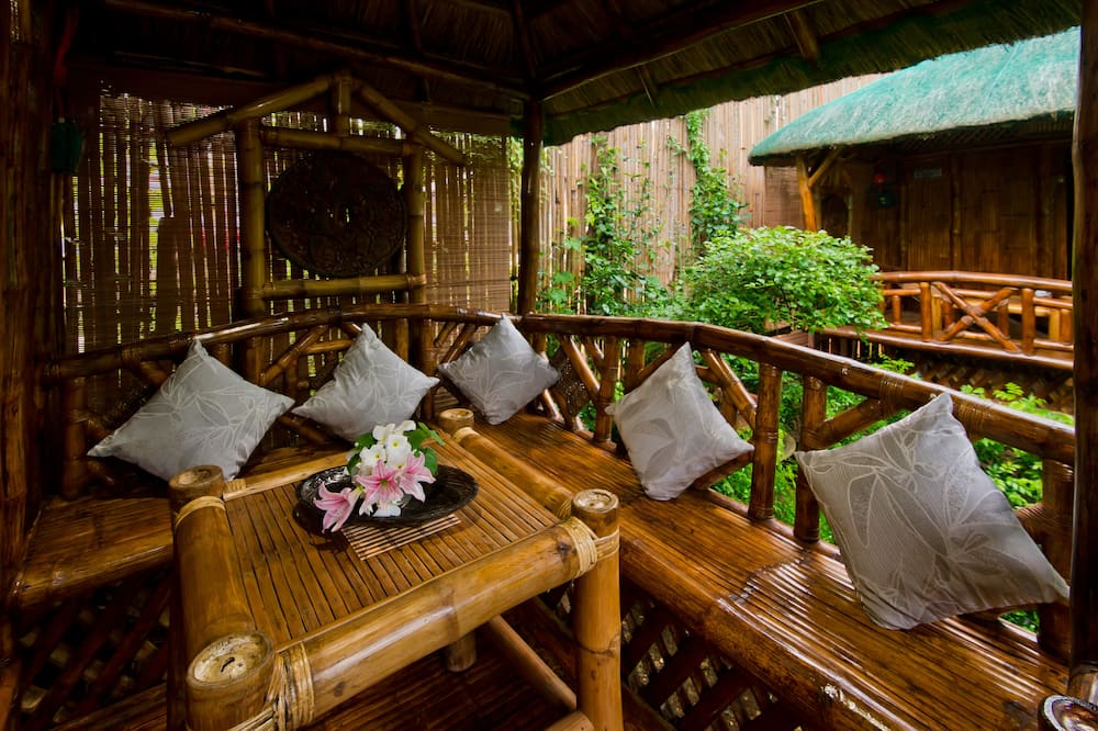Single Detached Bamboo Hut - Terraza o patio