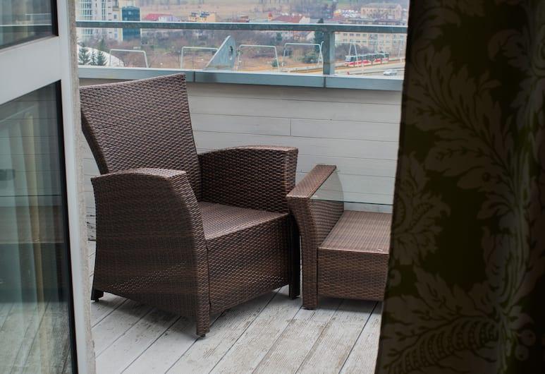 Balu Apartments, Prag, Luksus-dobbeltværelse - terrasse - byudsigt, Terrasse/patio