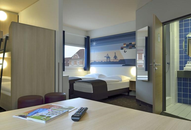 B&B Hotel Hamburg-Altona, Hamburg, Familien-Vierbettzimmer, Zimmer