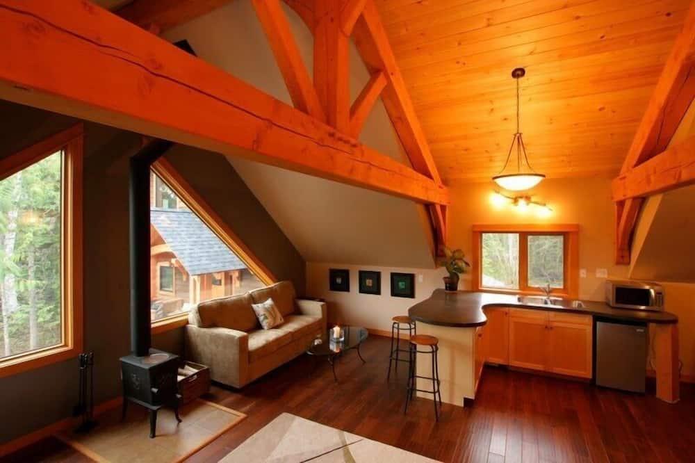 Premium loft, 1 spavaća soba, pogled na planinu - Dnevni boravak