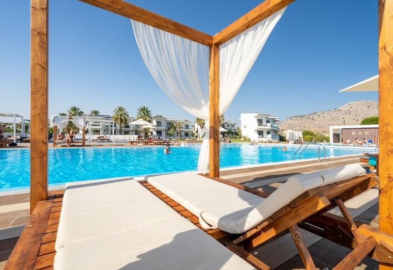 Kamari Beach Hotel - All inclusive, Rodosz, Napozóterasz
