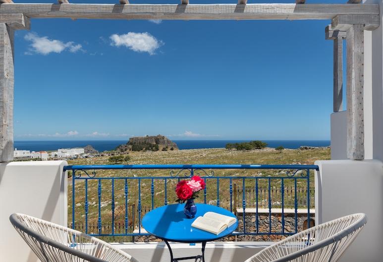'Lindian Myth' Sea View Studios, Родос, Улучшенная студия, вид на море (Acropolis View), Терраса/ патио