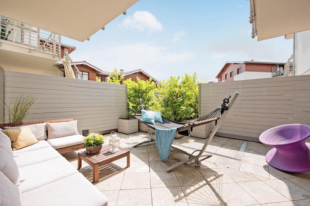 Apartament typu Deluxe, 2 sypialnie, balkon (living room, 6 adults ) - Taras/patio