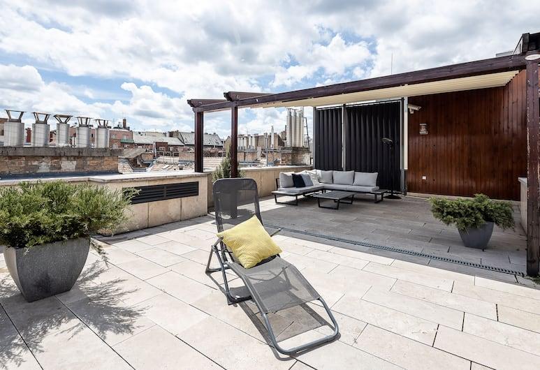 Avantgarde Apartments, Budapest, Loftsleilighet, terrasse, Terrasse/veranda
