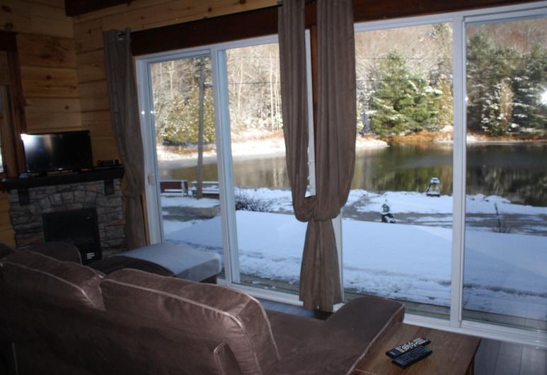 Chalets au Lac Pointe-au-Chêne, Grenville-sur-la-Rouge, Classic Cottage, Kitchenette (Piece sur Piece), Living Area