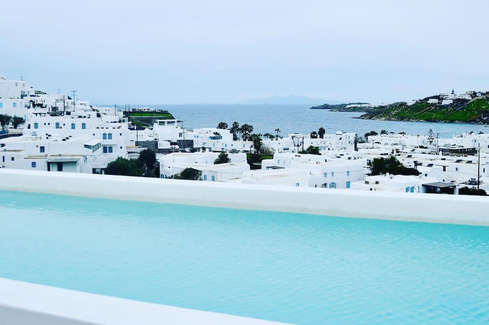 Dzīvokļnumurs ar papildu ērtībām, divas guļamistabas, piekļuve baseinam, atsevišķa ēka (Thalassa) - Skats no balkona