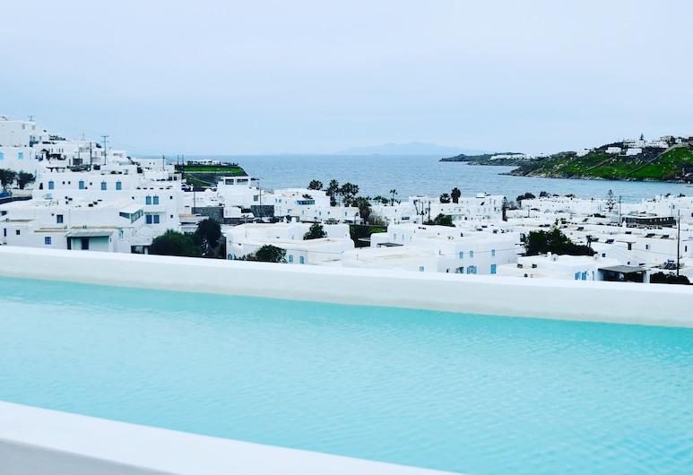 Mykonostimo Luxury Villas & Apartments, Mykonos, Superior Apartment, 2 Bedrooms, Pool Access, Annex Building (Thalassa), Balcony View