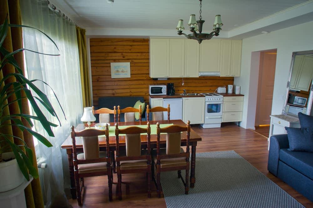 Departamento de diseño, 1 habitación, vista al jardín - Sala de estar
