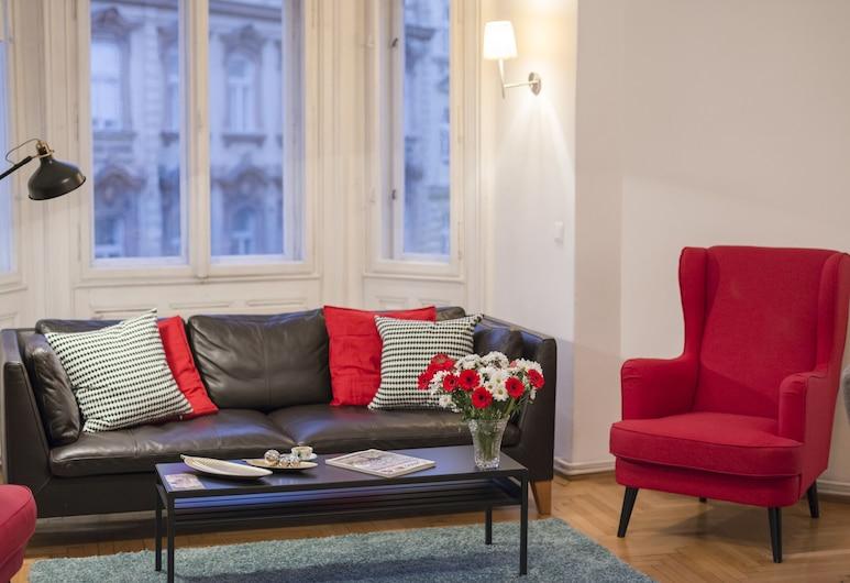 Alsergrund Luxury by Welcome2vienna, Viena, Apartamento, 3 quartos, Cozinha, Vista para a cidade (Cleaning Fee Included), Sala