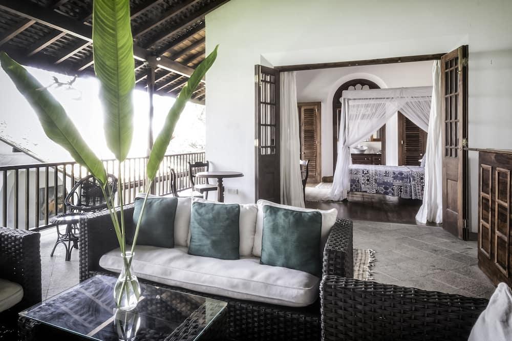 Luksusa divvietīgs numurs, 1 divguļamā karalienes gulta, terase - Dzīvojamā zona