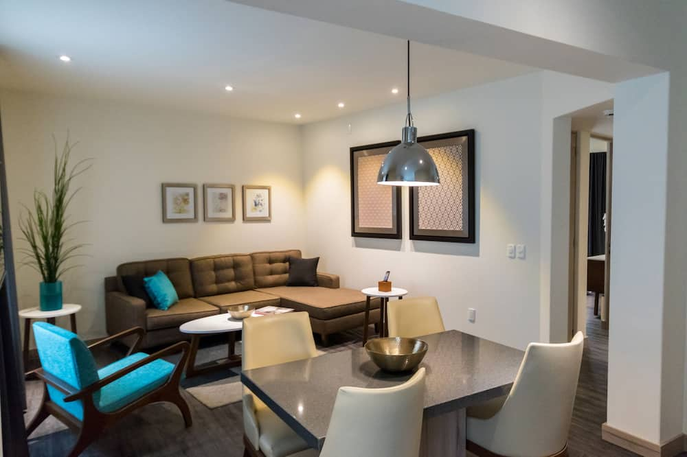 Apartmá s ložnicí a obývacím koutem, dvojlůžko (200 cm) - Obývací pokoj