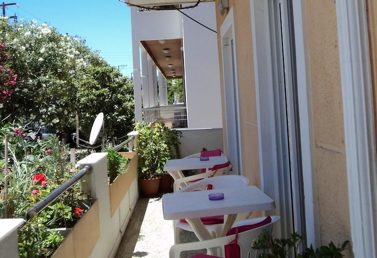 Zefyros Hotel, Rhodes, Double or Twin Room, Balcony, City View, Teres/Laman Dalam