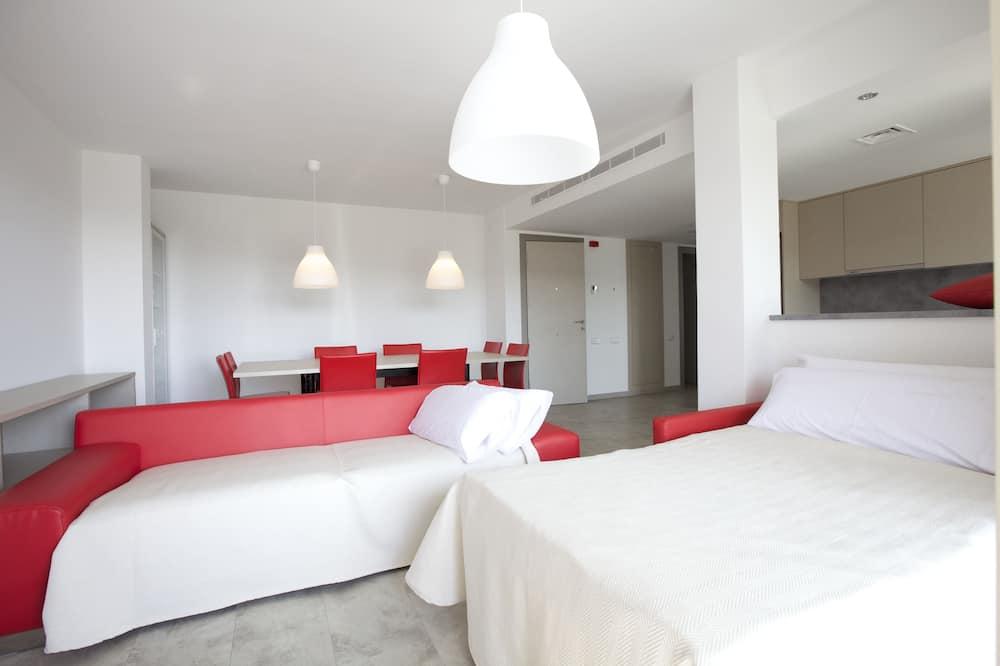 Superior-lejlighed - 4 soveværelser - byudsigt - tårn - Stue