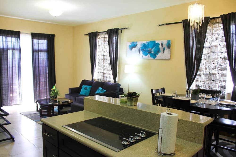 Apartamento Standard, 1 Quarto, Vista Cidade, Rés-do-chão - Área de Estar