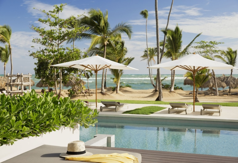 Excellence El Carmen - Adults Only All Inclusive, Punta Cana, Excellence Club Beach Front Honeymoon Swim-up Suite Ocean Front, Ausblick vom Zimmer