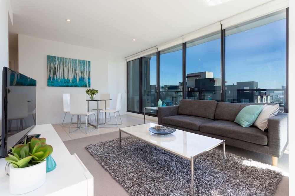 行政公寓, 2 間臥室, 陽台, 城市景觀 - 客廳