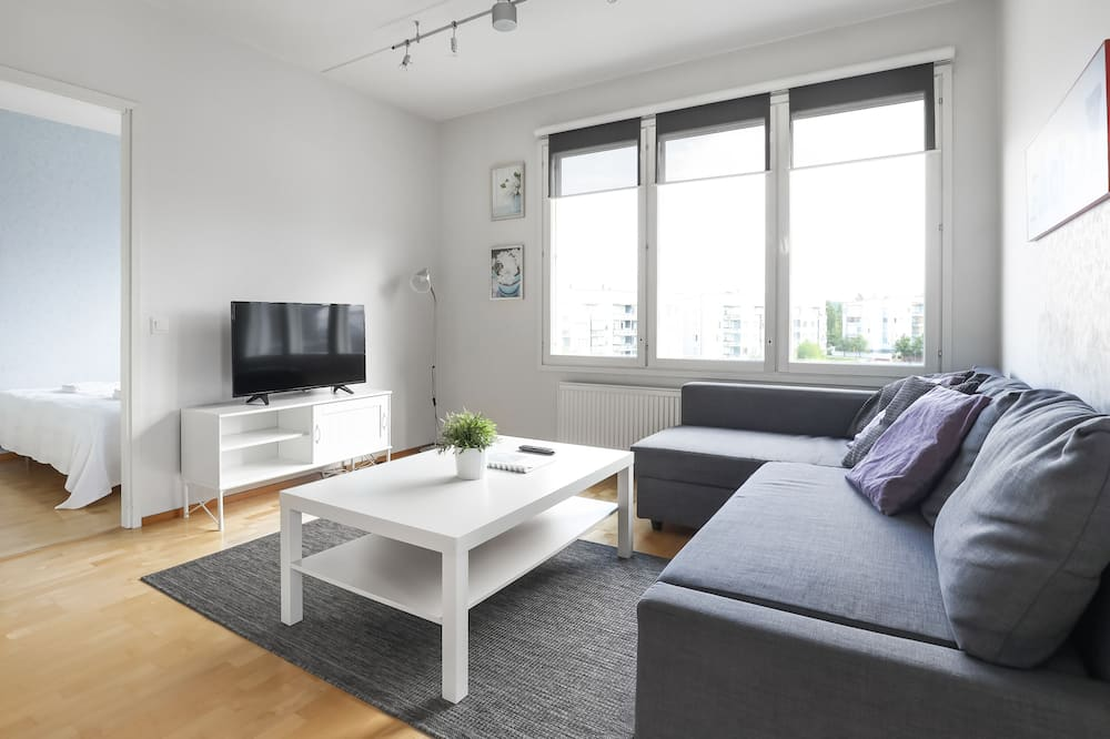 Appartement, 2 chambres, sauna (Kivääritehtaankatu 5, Tourula) - Salle de séjour