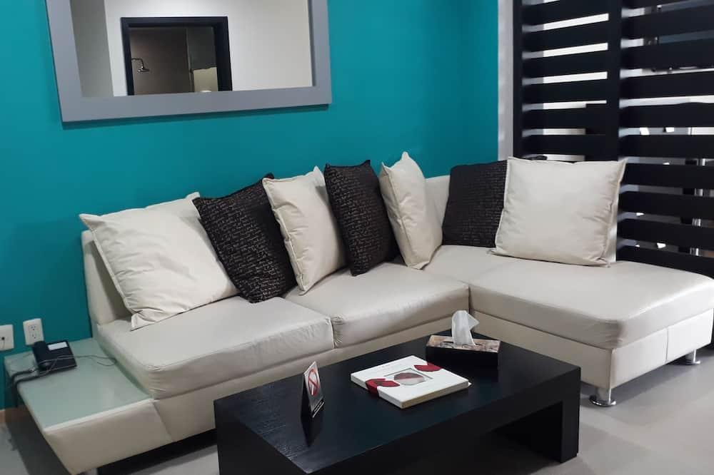 高級公寓, 2 張標準雙人床 - 客廳