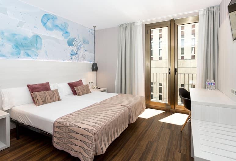 Hostal Operaramblas, Barcelona, Superior Double or Twin Room, Balcony, Bilik Tamu