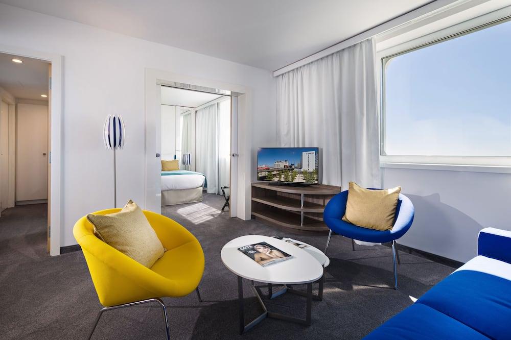 Suite Executiva, 1 cama queen-size, Vista Mar - Área de Estar