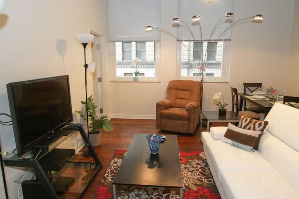 奢華公寓, 2 間臥室, 城市景觀 - 客廳