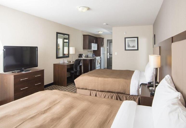 Western Star Inn & Suites Esterhazy, Esterhazy, Kamar Deluks, 2 Tempat Tidur Queen, dapur, Kamar Tamu