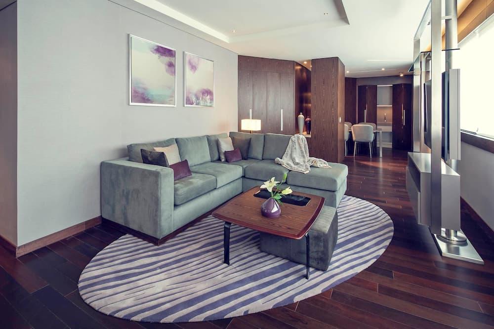 Habitación doble superior, 1 cama doble - Zona de estar