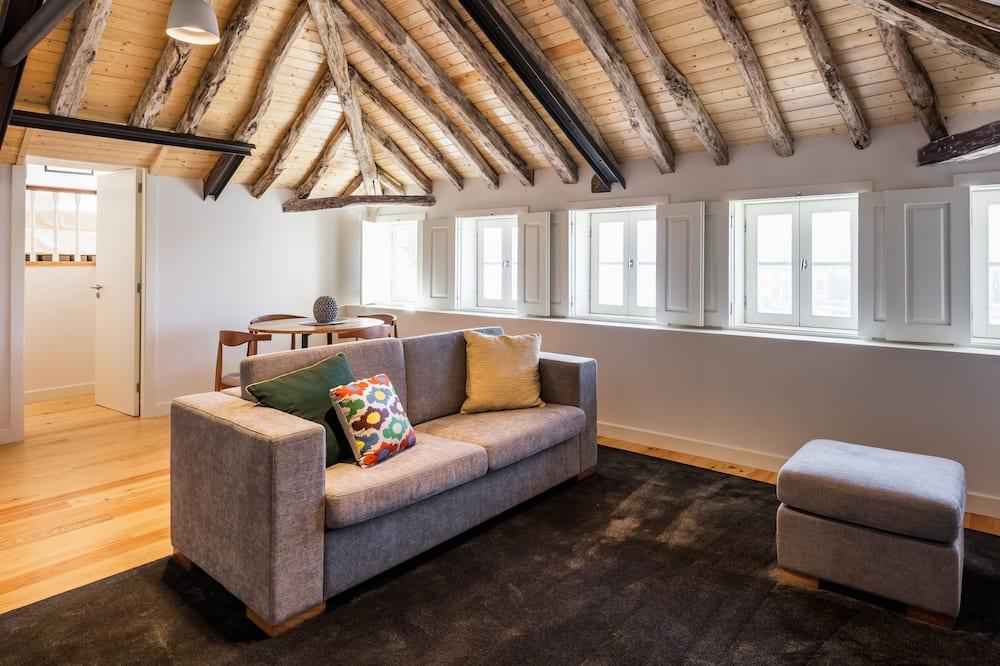 Apartmán, 2 spálne, veranda, výhľad na rieku - Obývačka