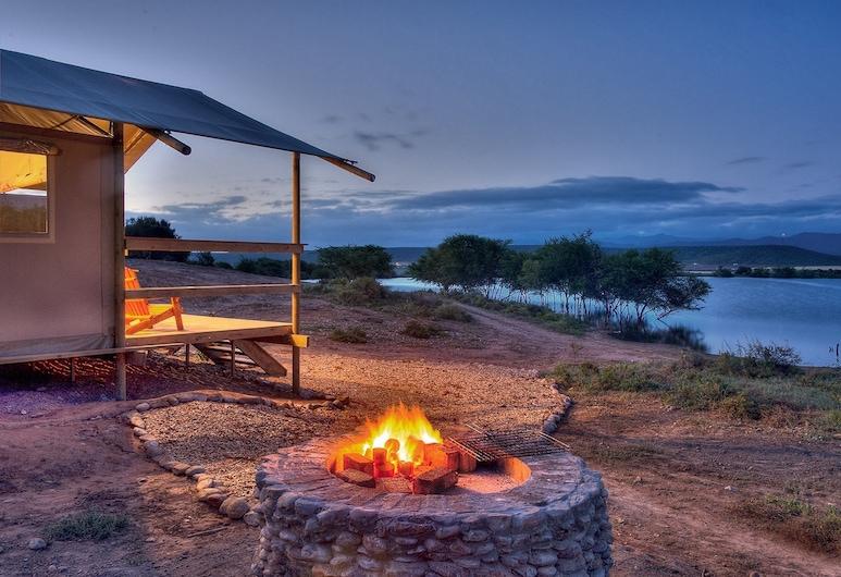 AfriCamps Klein Karoo, Oudtshoorn, Front of property - evening