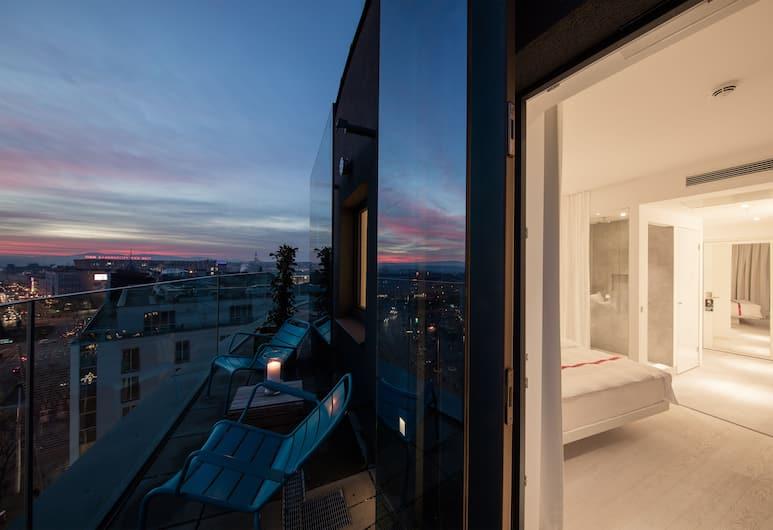 루비 마리에 호텔 비엔나, 빈, 디럭스 더블룸, 퀸사이즈침대 1개, 테라스, 시내 전망 (Loft Room), 객실