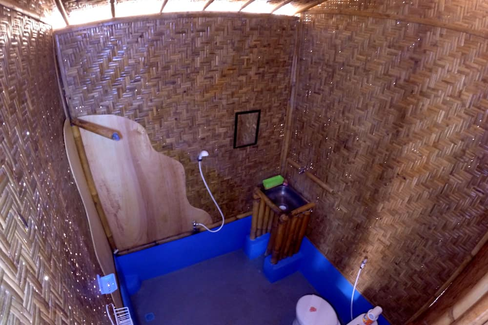 Bamboo Bungalow, Fan Only - Bathroom
