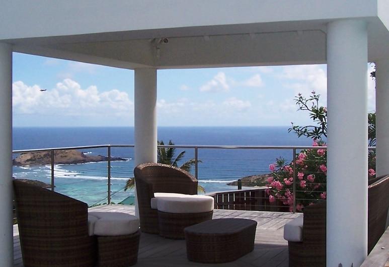 Au Coeur Caraibe Saint Barth - Adults Only, San Bartolomé, Casa de campo romántica, 1 habitación, piscina privada, vista al mar, Terraza o patio