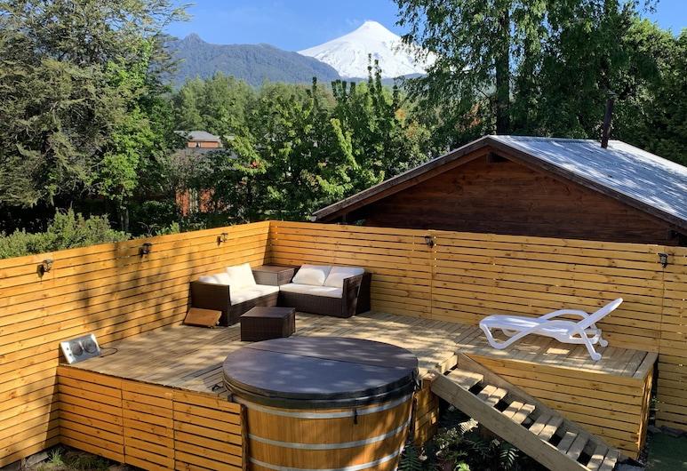 Hostal Andes Pucon, Pucón, Bañera de hidromasaje al aire libre