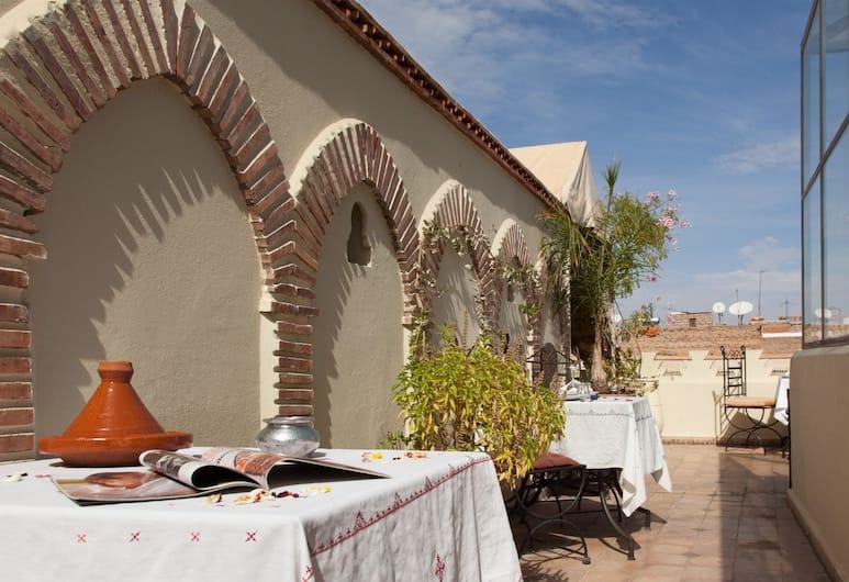 Riad Zehar, Marrakech, Chambre Double ou avec lits jumeaux (Chawen), Terrasse/Patio