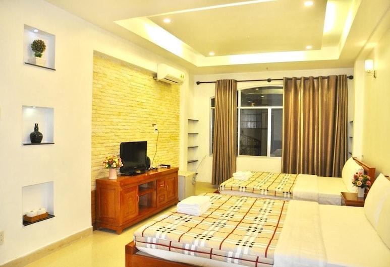 ジャスミン ホテル, ホーチミン, ファミリー 4 人部屋 クイーンベッド 2 台 シティビュー, 部屋