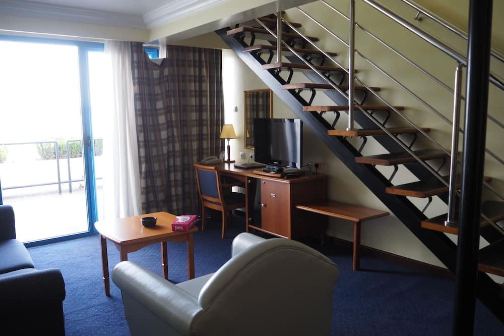 Deluxe-Suite, Seeblick - Wohnzimmer