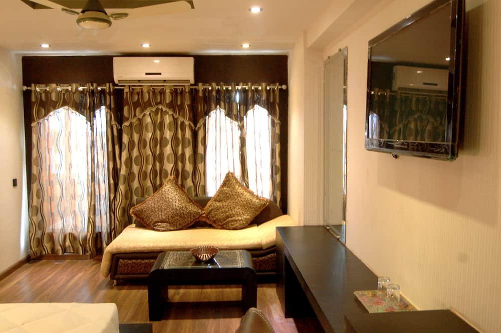 Royal suite, 1 king size krevet, pristup za osobe s invalidnošću, pogled na grad - Dnevni boravak