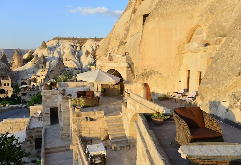 Village Cave House Hotel, Nevşehir, Deluxe-dobbeltværelse - 1 queensize-seng, Altan
