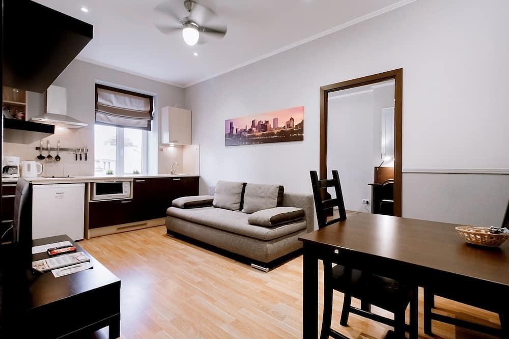 Apartment, 1 Bedroom, Kitchen - Living Area