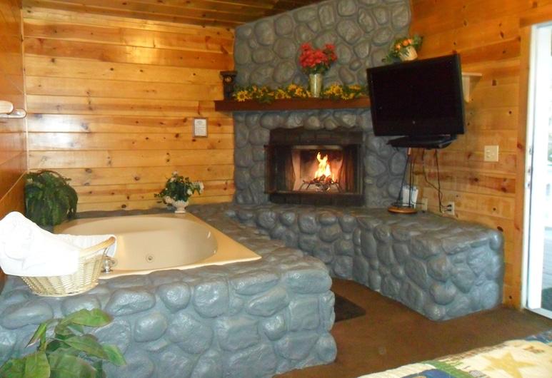 Big Bear Manor Spa Cabins, Danau Big Bear , Kabin Ekonomi, 1 Tempat Tidur King, jet tub, Kamar