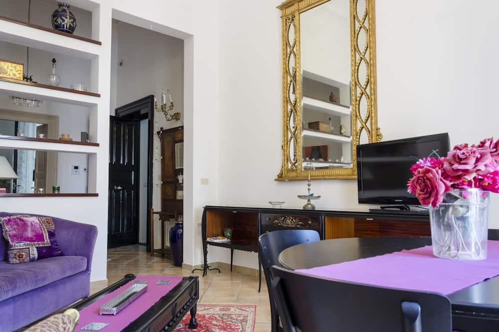 Royal-Apartment, 2Schlafzimmer, barrierefrei, Balkon - Wohnbereich