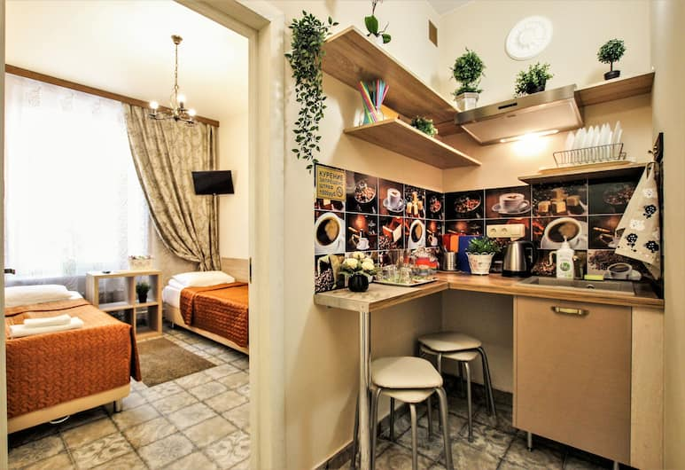 Melange hotel, San Pietroburgo, Quadrupla Standard, 2 camere da letto, angolo cottura, Camera