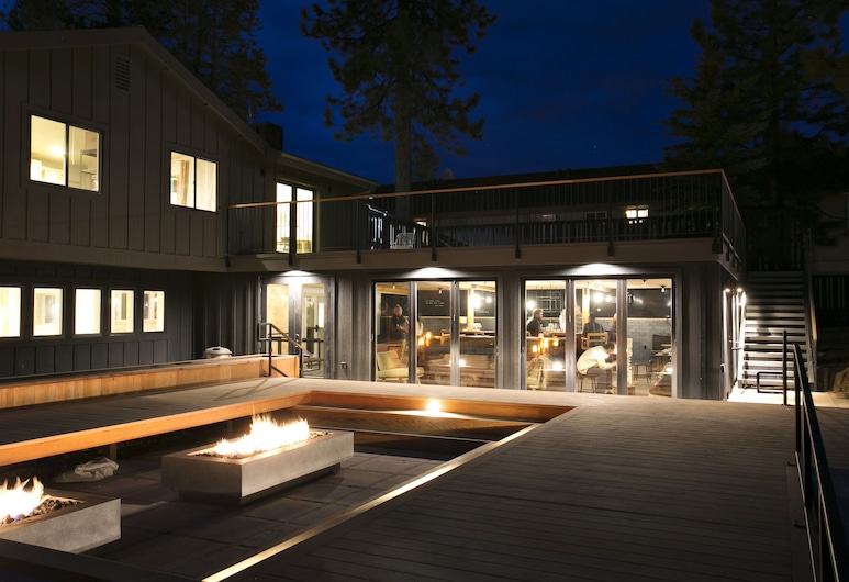 The Coachman Hotel, South Lake Tahoe, Hotel Front – Evening/Night